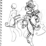 Artist Pinup Sketch