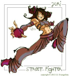 Street Fighter Juri Fan Art