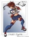 Street Fighter Sakura Fan Art