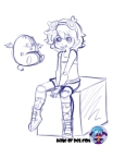 Sinny Sitting Sketch