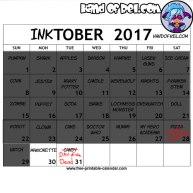 Inktober 2017 Calendar