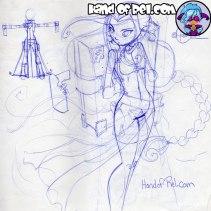 HandofRel_Sketch--Penri-Design-Bookpack