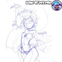 Inktober Day7- Shantae Rel Doodle